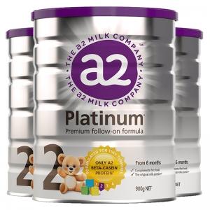 【澳洲直邮】白金 A2 奶粉2段 900g 3罐 特快线 参考日期2023年2月