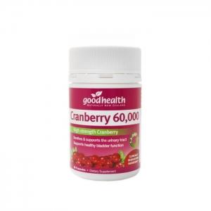 【直邮价】Good health 好健康 蔓越莓胶囊 60000 50粒 保质期:2022.7月