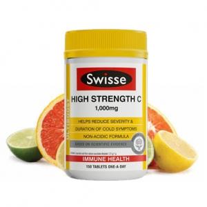 【直邮价】Swisse 高含量维生素C营养片 1000mg 150片 保质期:2023.5月